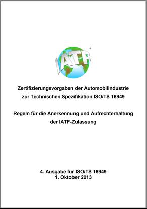 Bild von Zertifizierungsvorgaben zur ISO/TS - 4. Ausg.