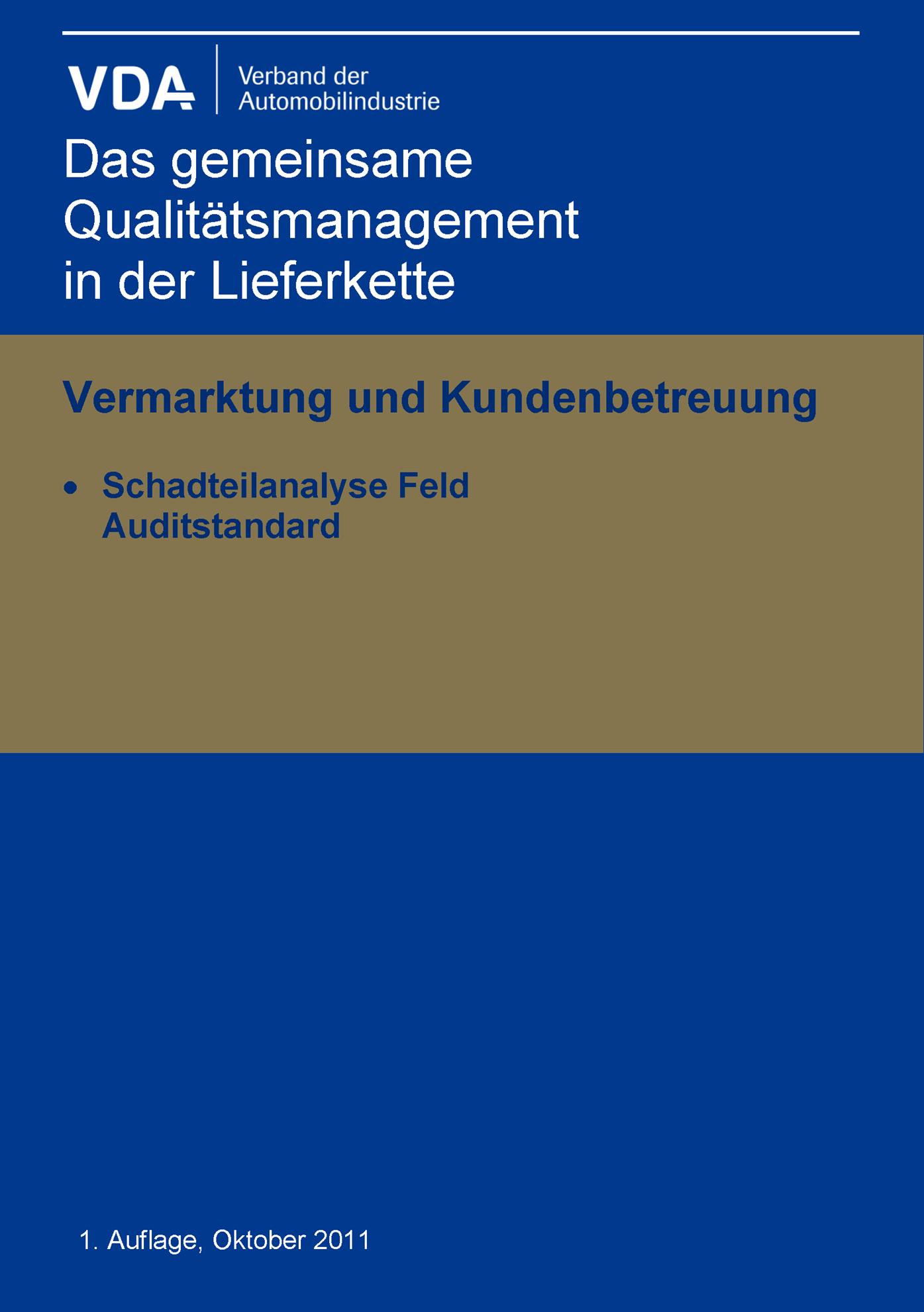 Bild von e-Schadteilanalyse Feld / Auditstandard