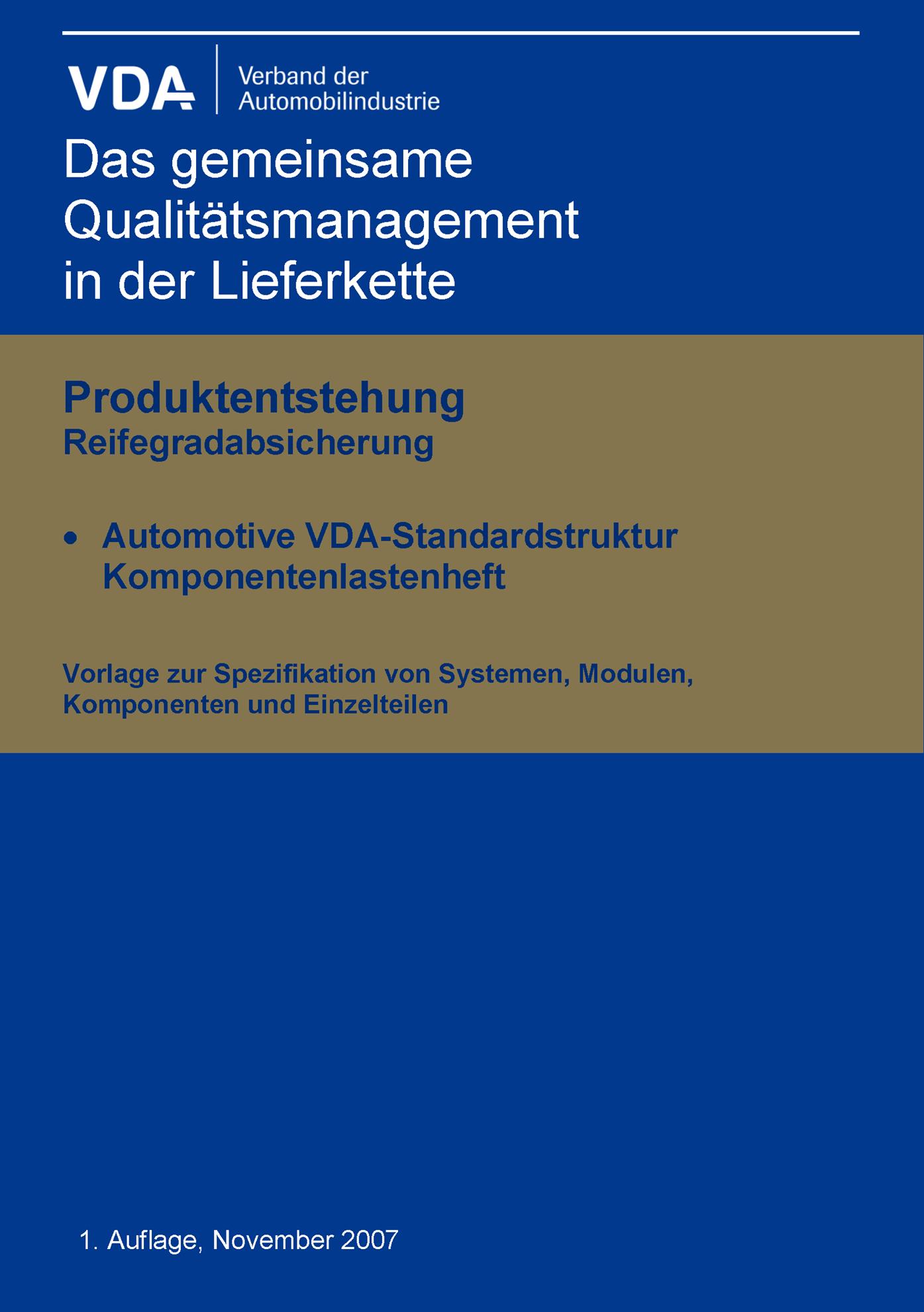 Bild von Komponentenlastenheft-Automotive Standardstruktur