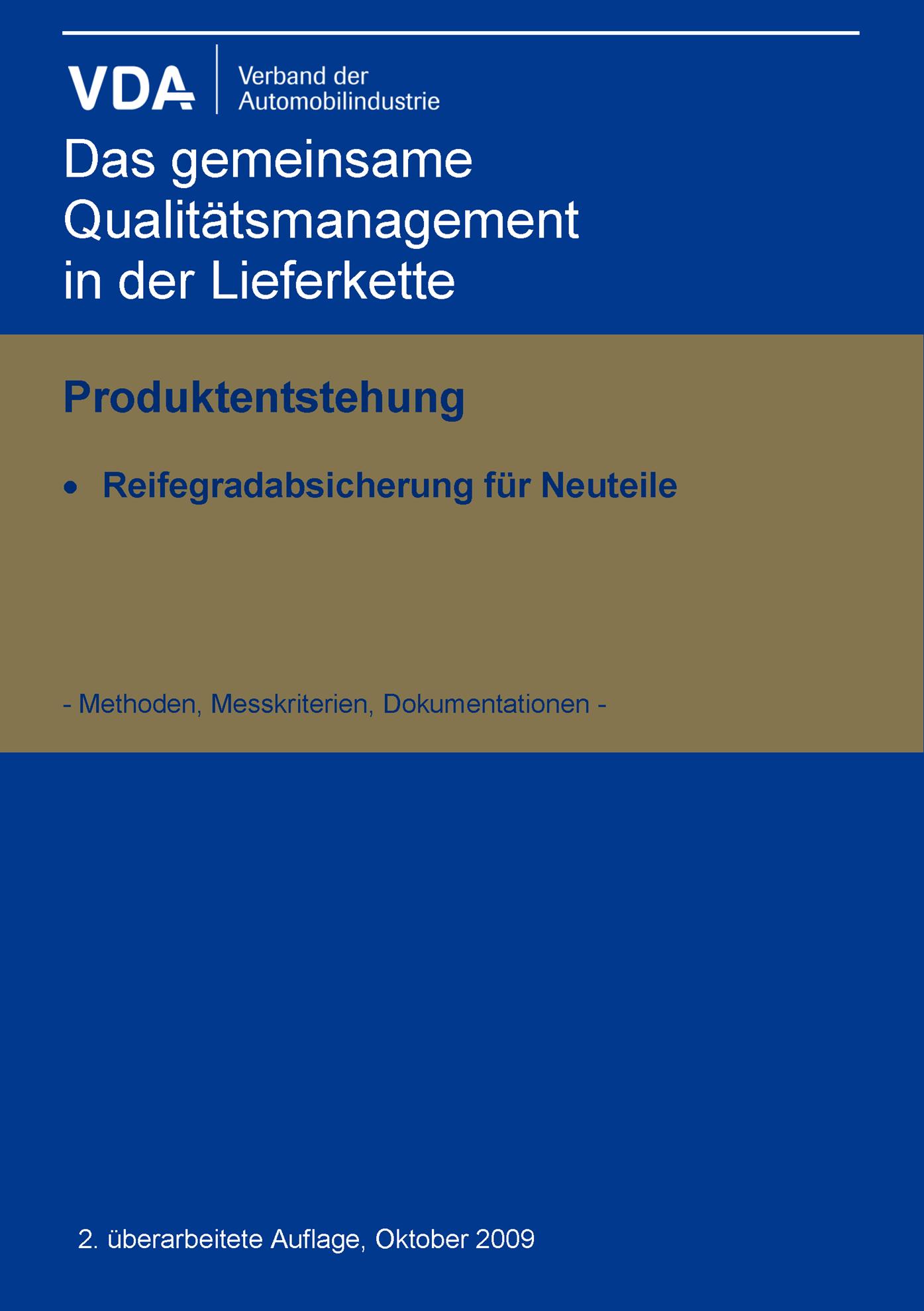 Picture of Reifegradabsicherung für Neuteile 2. Auflage
