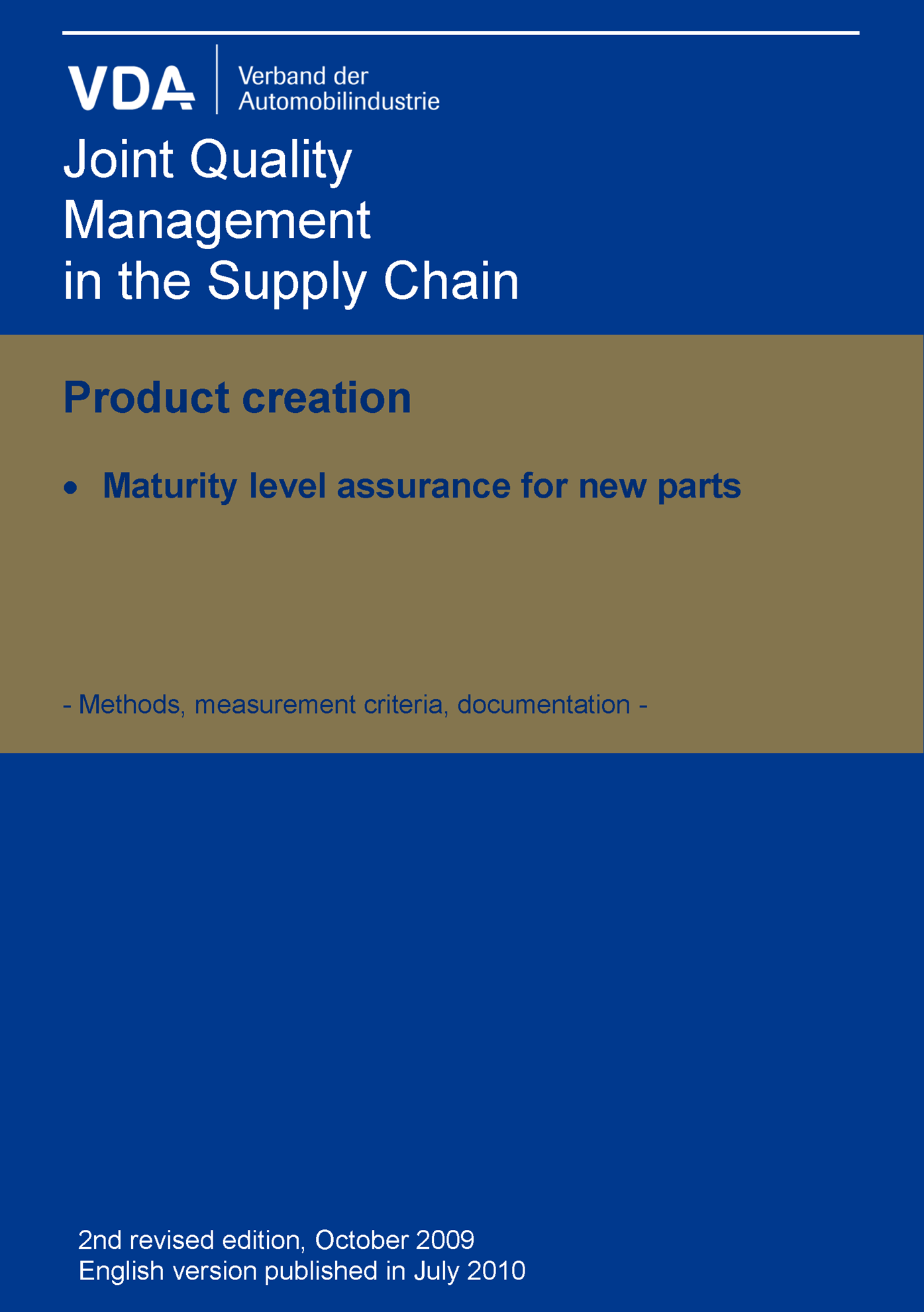 Picture of Maturity Level Assurance for New Parts