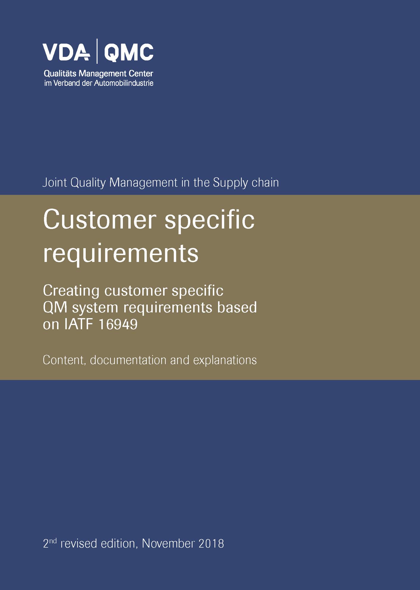 Bild von Customer specific requirement